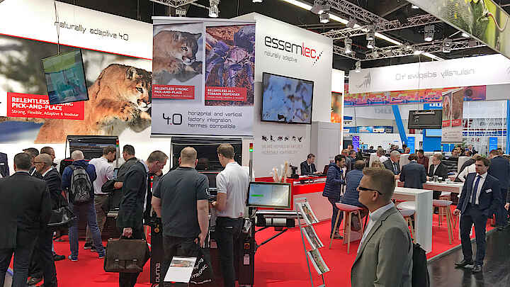Essemtec Dispenser and Pick and Place at SMTconnect 2019 in Nürnberg