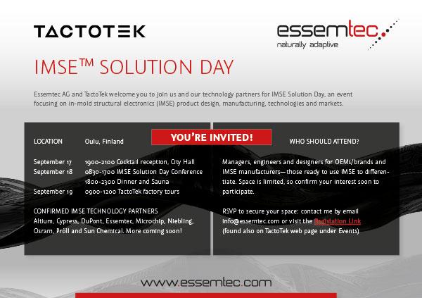 Tactotek - IMSE™ Solution Day - Oulu, Finland Ι Essemtec